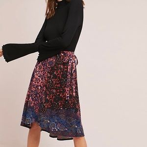Anthropologie | Maeve Floral Wrap Skirt